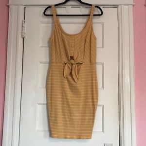 NWT Ribbed tie Up Body Con Dress - Plus Size